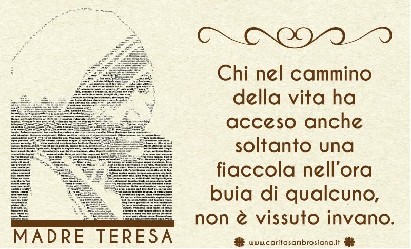 Eccezionale Caritas Ambrosiana - Frasi celebri MH74
